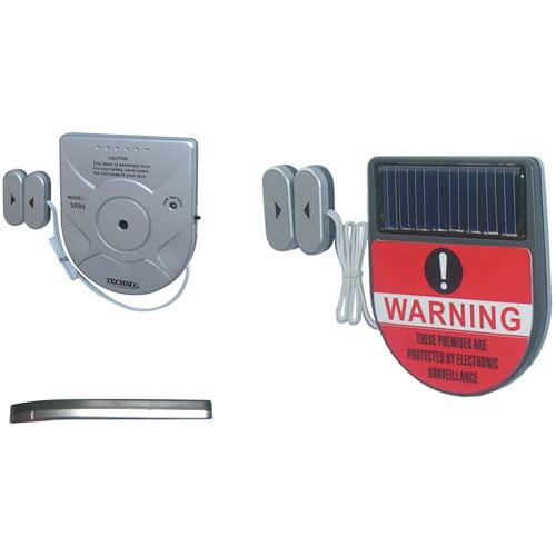 Techko Maid Solar Window Slim Magnetic Alarm