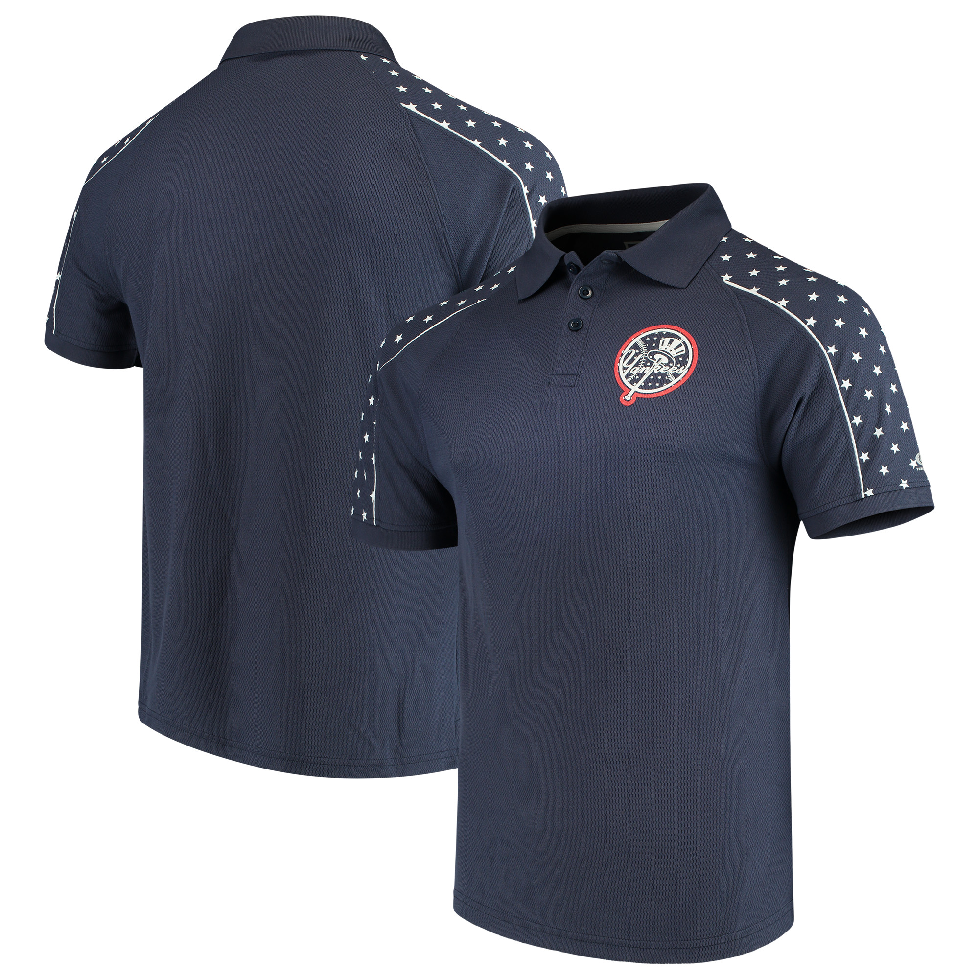 Men's Stitches Navy New York Yankees Americana Polo