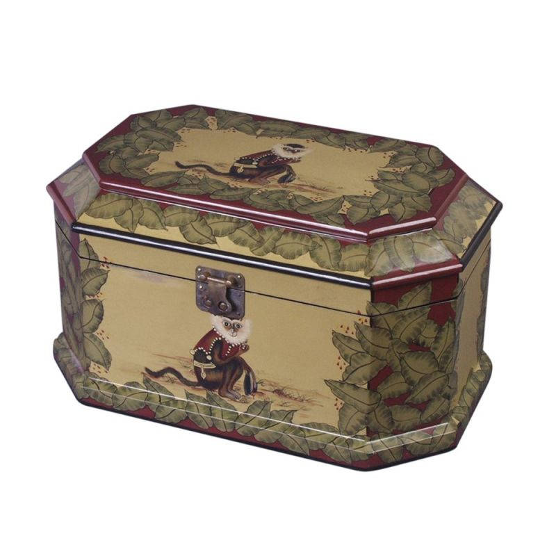 AA Importing 18027 Wooden Monkey Decorative Box by Antique Reproductions, Inc.