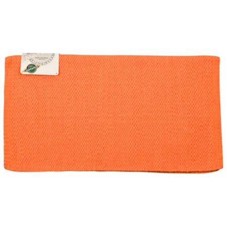 Mayatex San Juan Solid Kashmilon Saddle Blanket - Orange