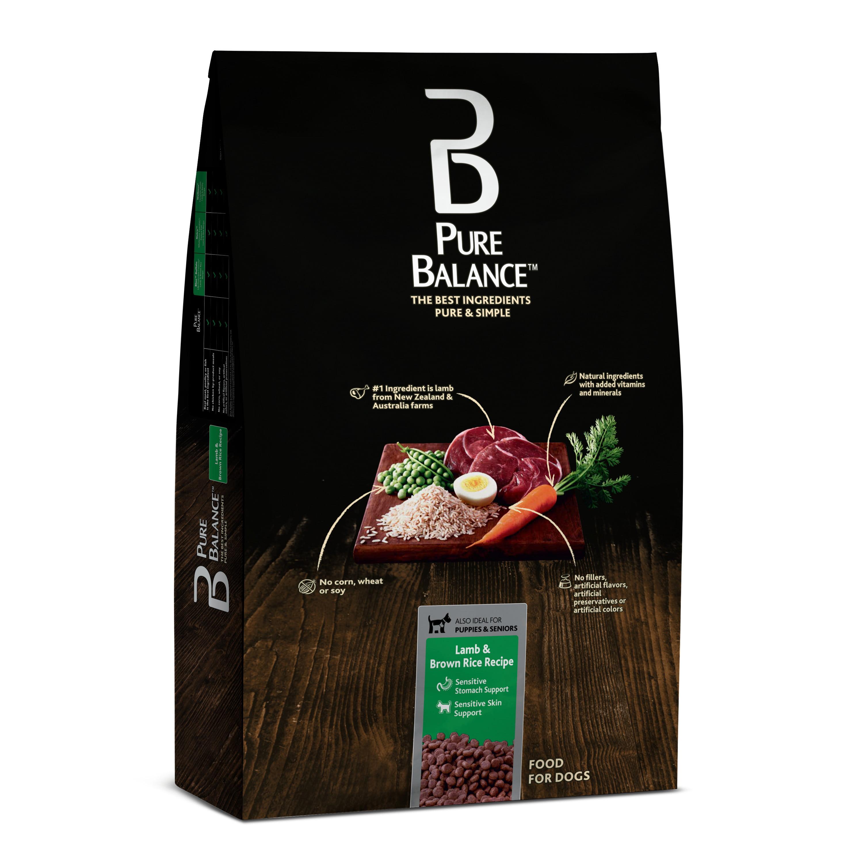 Pure Balance Lamb & Brown Rice Recipe Dry Dog Food, 30 lb