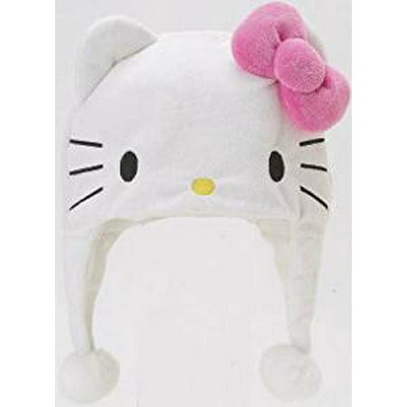 Laplander Beanie Cap - Hello Kitty - Face Hat New - Hello Kitty Beanie