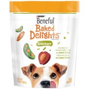 Beneful Baked Delights Snackers Peanut Butter & Cheese Dog Treats, 9.5 Oz