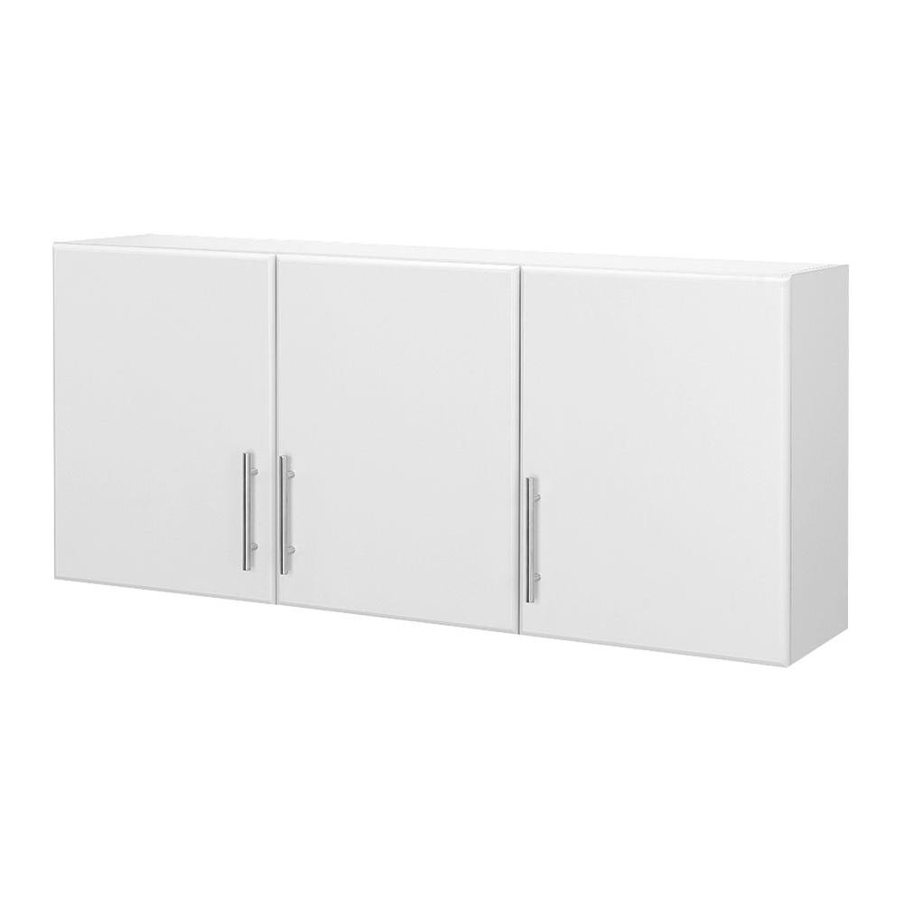Hampton Bay 24 in. H 3-Door Wall Cabinet Storage Organizer in White ...