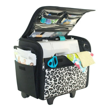 Sewing Bag - Everything Mary Cheetah Rolling Sewing Machine Case, 1 Each