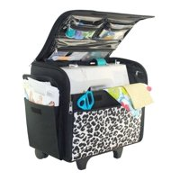 Everything Mary Basic Rolling Sewing Machine Case, Cheetah Print