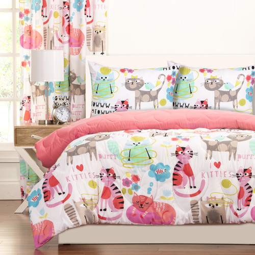 Siscovers Purrty Cat Comforter Set