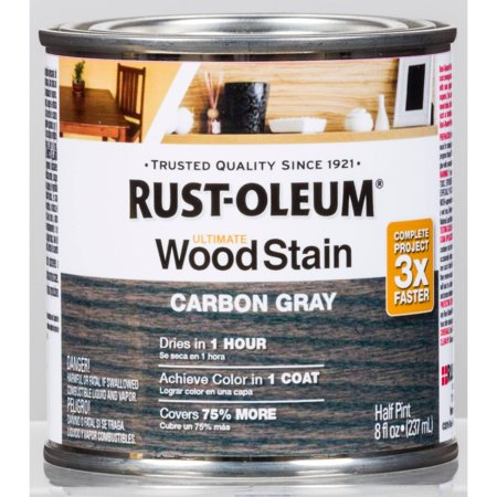 Carbon Gray Rust-Oleum Ultimate Wood Stain, Half Pint