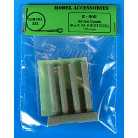 Amco Metal (Eureka XXL 1:35 Metal Ammo Canisters for 8.8 cm KwK.43 Resin Detail Set #E-008 )