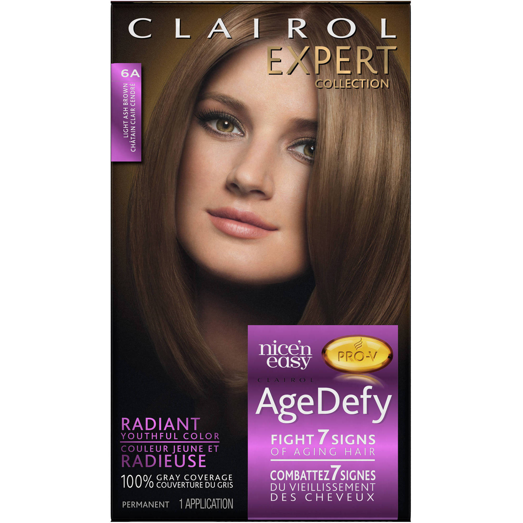 Clairol Expert Nice 'n Easy Age Defy Permanent Hair Color Kitr, 6A Light Ash Brown
