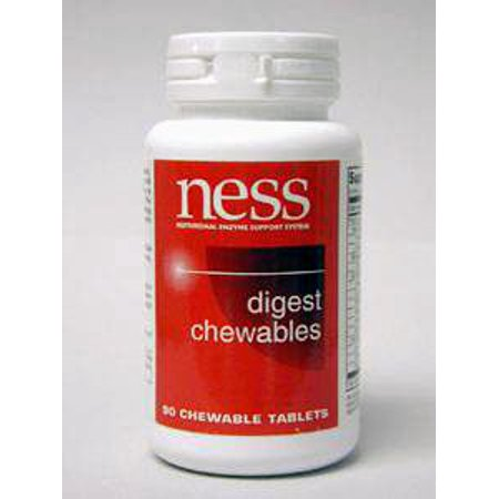 Ness Enzymes, Digest Chewables 90 onglets