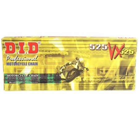 Did 525Vx Pro Street X Ring Vx Series Chain 110 Links Gold Black For Street Motorcycle