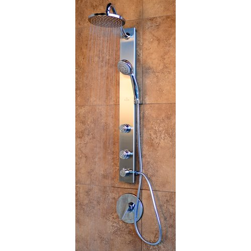 Pulse Showerspas Aloha Single Handle Showerpanel with 2 Body Sprays and Rain Style Shower Head