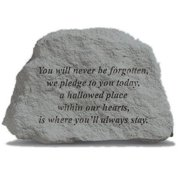 Kay Berry- Inc. 79220 You Will Never Be Forgotten - Memorial - 6.5 Inches x 4.5 Inches