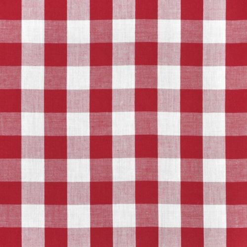 "20 Yards Checkered Fabric 60"" Wide Gingham Buffalo Check Tablecloth Fabric Decor"", (Color: Red)"