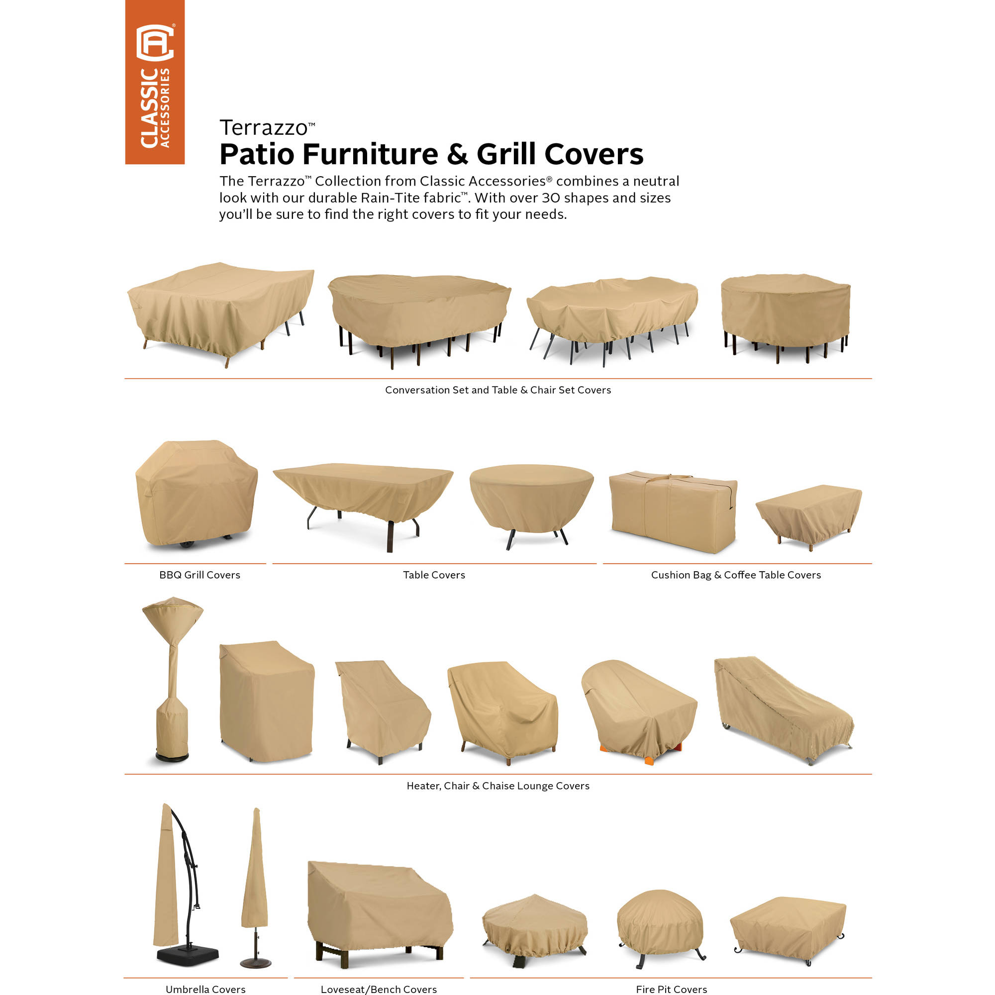 Clic Accessories 58222 Patio Table And Chair Set Cover Large Round
