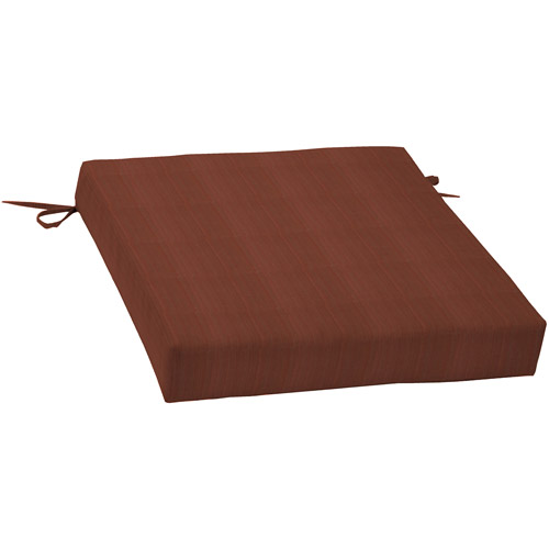 Better Homes and Gardens Dining Seat Outdoor Cushion, Red Stria