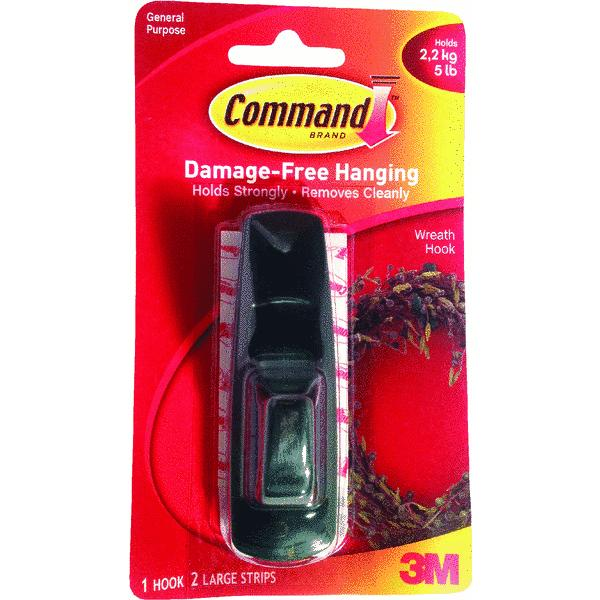 3M 17003GR Command Large Adhesive Hook-COMMAND LARGE HOOK