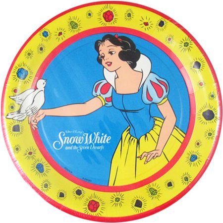 Snow White and the Seven Dwarfs Vintage Large Paper Plates (8ct) (Vintage Paper Plates)