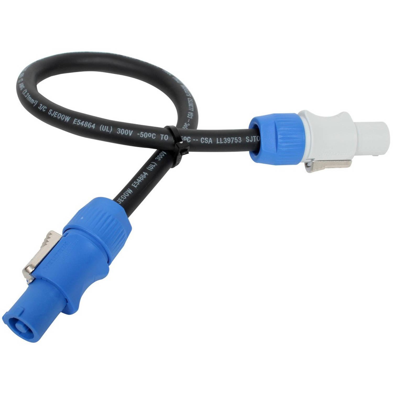 Elite Core Neutrik PowerCon Power Extension Cable 1.5' ft PC12-AB-1.5 LIFETIME WARRANTY