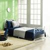 Topeakmart Single Bed Frame Metal Twin Bed Frame White