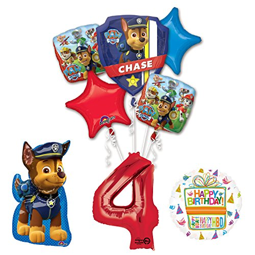 The Ultimate Paw Patrol 4th Birthday Party Supplies and Balloon Decorations