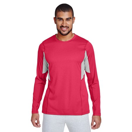 Team 365 TT14 Men's Excel Performance Warm-up - Sp Red Heather - X-Large