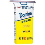 Domino Sugar, Granulated, 25-Pound Bags