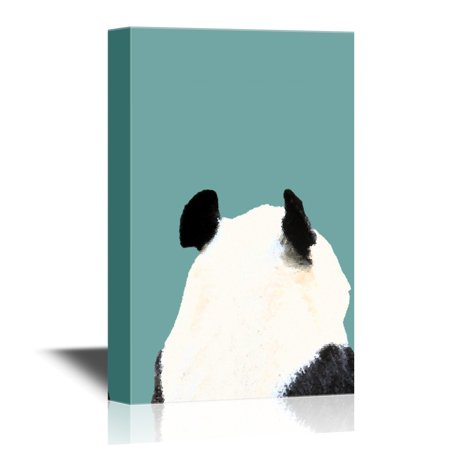 Panda Canvas Reproduction - wall26 Canvas Wall Art - Back of a Panda - Gallery Wrap Modern Home Decor | Ready to Hang - 32x48 inches