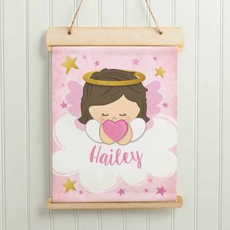 Guardian Angel Personalized Hanging Canvas Banner