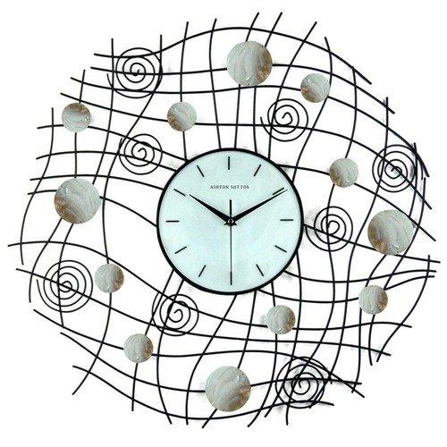 Ashton Sutton Abstract Wall Clock in Black Matte