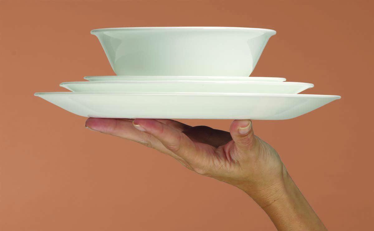 Livingware 16 piece Dinnerware Set, Service for 4, Apricot Grove ... for Dinner Plate Side View  111bof