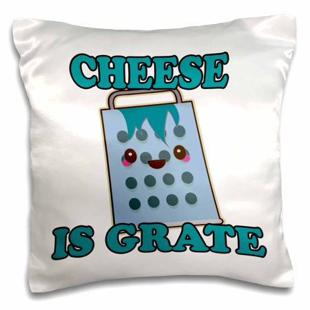 3dRose Cute Kawaii Cheese Is Grate Great Pun - Pillow Case, 16 by - Halloween Cheese Puns