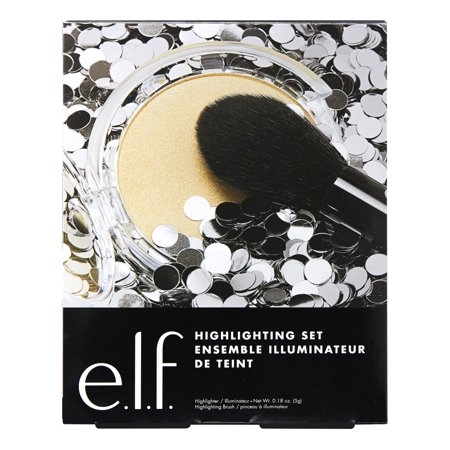 e.l.f. Cosmetics Highlighter and Brush Value Set (Best Highlighter For Brown Skin)