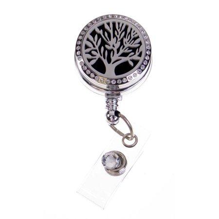 e97a8e8f5e8c Badge Blooms ID Badge Reel - Essential Oil Diffuser - Tree of Life -  Walmart.com