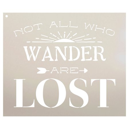 Not All Who Wander Are Lost - Sunshine Stencil by StudioR12 | Inspirational Word Art - Reusable Mylar Template | Use on a Wall, Canvas and Boards | Etching, Chalk - SELECT SIZE - Halloween Pumpkin Stencils Words