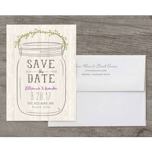 Mason Jar Deluxe Save the Date