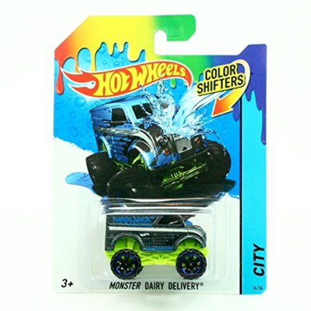 City Wheels Twin (MONSTER DAIRY DELIVERY * COLOR SHIFTERS * 2014 Hot Wheels City Series 1:64 Scale Vehicle 14/36)