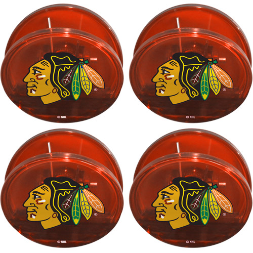 NHL Chicago Blackhawks Magnetic Chip Clip Set, 4pk