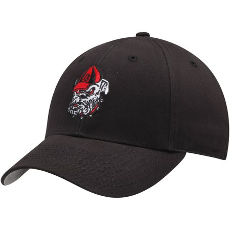 Men's Black Georgia Bulldogs Basic Adjustable Hat - OSFA