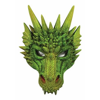 Green Dragon Mask Halloween Costume Accessory - Make A Halloween Mask Online