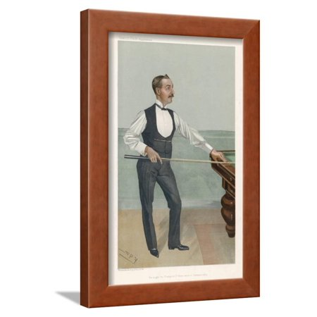 H.W. Stevenson a Leading British Player of His Day Who Won His First Billiards Championship in 1901 Framed Print Wall Art By Spy (Leslie M. - British Players