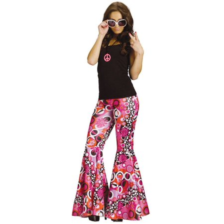 Flower Child Bell Bottoms Women's Costume (Cat Costumes For Women)