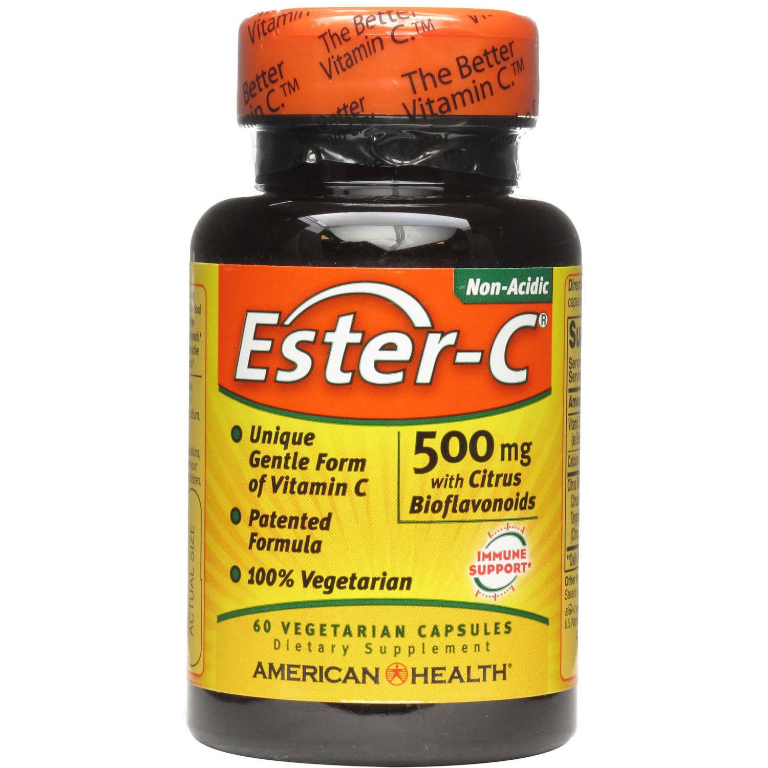 American Health Ester-C Dietary Supplement Vegetarian Tablets, 500mg with Citrus Bioflavonolds, 60 CT