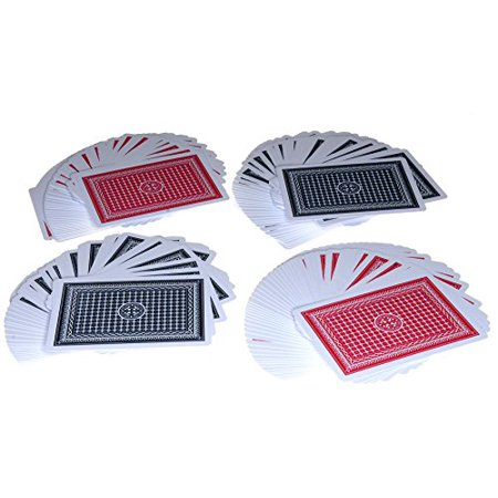 Royal All Plastic Playing Cards _ Poker Size _ Bundle of 4 Decks _ Bonus 2 Gold Pouches _ Bundled Items - image 3 of 4