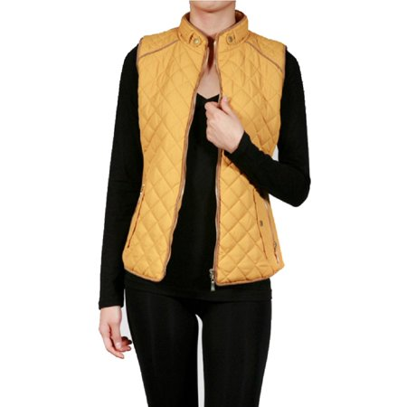 Women's Lightweight Quilted Padding Zip Up Jacket Vest-Plus Size Available (FAST & FREE SHIPPING) - British Redcoat Jacket