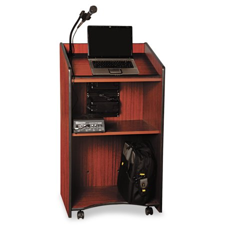 AmpliVox Presidential Plus Wireless Lectern, 25-1/2w x 20-1/2d x 46-1/2h, Mahogany