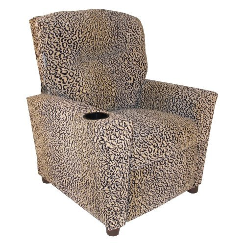 Dozydotes Kid Recliner with Cup Holder - All Cheetah