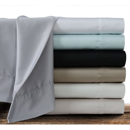 360 Thread Count Cotton Sateen Extra Deep Pocket Solid Sheet Set King Ivory