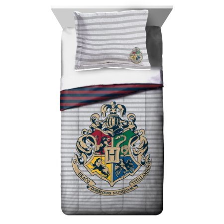 Harry Potter Twin or Full Comforter and Sham Set, 2 Piece (Duvet Cover Harry Potter)